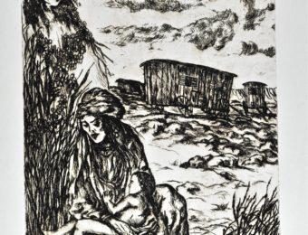 P.A  Bohémiens en voyage  -  Acquaforte