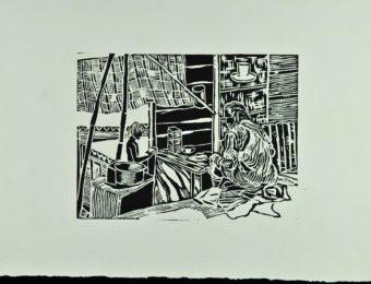 P.A India - xilografia